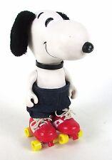 "Vintage 1960's Peanuts "" Snoopy "" Roller Skating 9"" Inch Vinyl Doll"