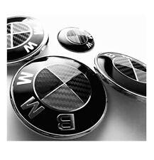 Logo Carbon BMW NOIR 82 mm Coffre Capot Série 1 3 5 7 E39 E46 E90 E60 E92 X3 X5