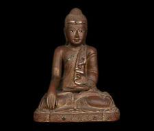 Thailand / Burma 20. Jh. Holz - A Thai or Burmese Wood Buddha Bouddha Tailandese