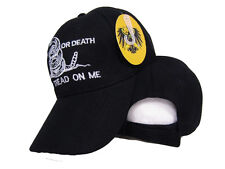 Black Gadsden Culpeper Liberty or Death Dont Tread on Me Washed Style Hat Cap