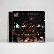 Quake 3 III Arena (Sega Dreamcast, 2000) Complete with Manual *NEAR MINT* (QW)