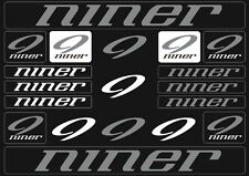 Niner Mountain  Bicycle Frame Decals Stickers Graphic Adhesive Set Vinyl Gray