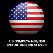 UNLOCK US GSM/VZW N61/N56 ALL MODEL IPHONE CLEAN IMEI AND UNPAID