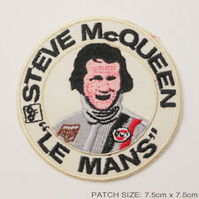 """STEVE McQUEEN """"LE MANS"""" Embridered Iron-On Patch - UK Seller, Free Post, #1A09"""
