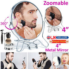 """4""""Round Cosmetic Mirror Two Sided Folding Small Travel Magnify Make Up Shaven UK"""