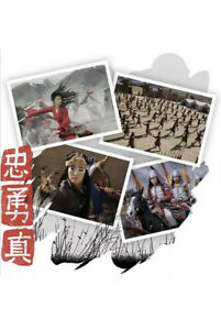 Mulan Exculsive Disney Store Lithograph Set Brand New Film Confirmed / Free Post