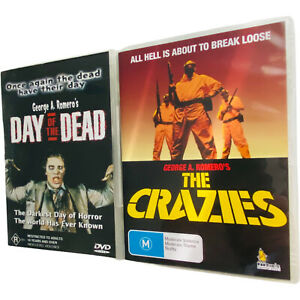 DAY of the DEAD 1985 & The CRAZIES 1972 DVDs George A Romero classics films R4