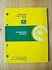 Original John Deere 680 Series Drawn Chisel Plow Operators Manual