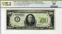 1934 $500 Five Hundred Dollar Bill Fr2201-I Minneapolis MN Low Serial Number FRN