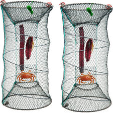 2 x Filet à crabes Crabe Crevette écrevisse Homard Anguille appâts de pêche pot panier