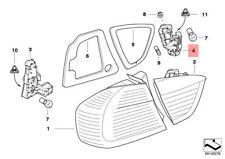 Genuine BMW E90 Bulb Holder Rear Light In Trunk Lid Left OEM 63217183841
