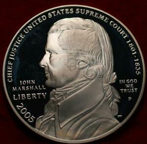 Uncirculated Proof 2005 John Marshall Silver Commemorative Dollar