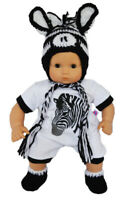 Little Zebra Outfit for Bitty Baby Bitty Twin Dolls 15 Inch Doll Clothes