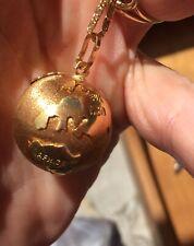 14k Yellow Gold Polished Globe Charm Pendant 24.5mmx16mm