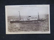 postcard Lignes de Corse Compagnie Fraissinet S/s Pascal Paoli Boat Ship Navire
