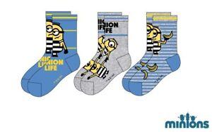 3er Pack Disney Minions Minion Söckchen Socken Strümpfe Gr. 23 - 34 NEU und OVP