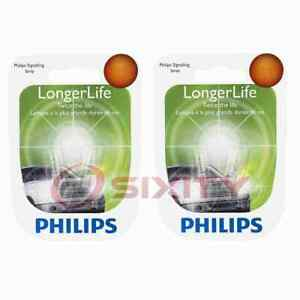 2 pc Philips 74LLB2 Long Life Multi Purpose Light Bulbs for Electrical am
