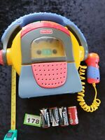Vintage1999Fisher Price Cassette Tape Primary Colours Microphone Portable Player