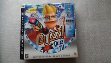 Buzz Quiz PS3 Game with 4 Buzz Wireless Controllers & USB Receiver PS3 Brand New