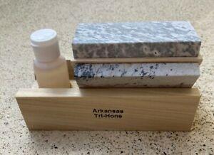 Tri 4 Arkansas Knife Sharpening Stone Kit