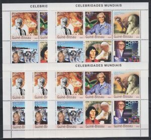 P455. 5x Guinea-Bissau - MNH - Famous People - Various - 2003 - 1