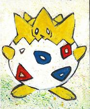 Pokemon Pikachu Cartoon Pop Art - Original Oil Painting on canvas 8x10 (inch)