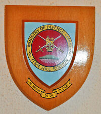 Ministry of Defence (Army) Tern Hill Station mess wall plaque shield crest MOD