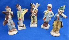 "Set 5 Vintage Antique OOMPA BAND Figurines Figures Germany Numbered Signed 4.5"""