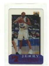 1996 Clear Assets $2 Phone Card #3 Jerry Stackhouse North Carolina