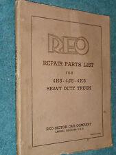 1936-1938 REO SPEEDWAGON 4 TON TRUCK PARTS CATALOG  / ORIGINAL 4H5 4J5 4K5 BOOK