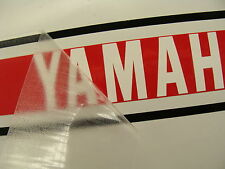 1976 YAMAHA YZ125 EURO CANADIAN TANK decals, RED, BLK, WHITE, vinyl install kit