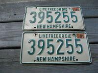 1981 81 NEW HAMPSHIRE NH LICENSE PLATE PAIR NICE SET