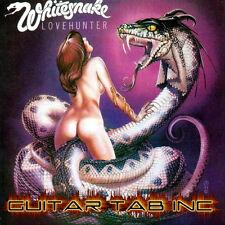 Whitesnake Guitar & Bass Tab LOVEHUNTER Lessons on Disc