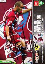 Scunthorpe United F.C Martin Paterson Hand Signed Championship 2008 Panini Card.
