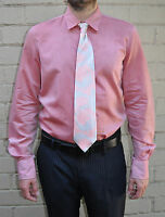 DSQUARED2 DSQUARED 2 Pink Button LS Dress Shirt 52 Mens Italy