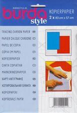 BURDA Schnittmusterpapier Kopierpapier 2 x 83 x 57 Bögen in blau & rot