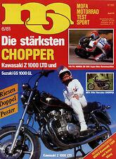 mo 6/81 1981 Vincent Ultra 80 Chopper Kawasaki Z1000LTD Suzuki GS1000GL KTM Bora