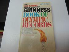 1976 GUINNESS OLYMPICS RECORDS BOOK RARE NICE PIECE OF OLYMPICS HISTORY