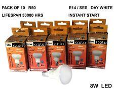 10XECOLA 8W LED  R50  E14 SES Reflectors Light Bulb DAY WHITE Lifespan 30000hrs