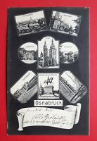 Mehrbild AK OSNABRÜCK 1905 Kanzlerwall, Blick vom Gertrudenberg, Hasep. ( 30730