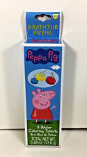 NEW Bath Tub Time Fizzies Disney PEPPA PIG Water Color Tablets Favor Party Gift