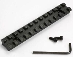 Picatinny Schiene 125mm 21mm Montagebreite Boden gewolbte Weaver Jagd Montage