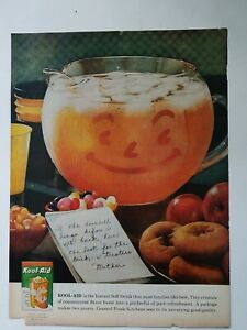 1959 pitcher orange Kool-Aid letter from mother vintage ad AS IS