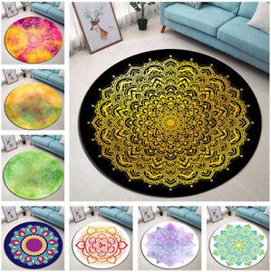 NEW Morocco Mandala Vintage Flowers Round Floor Mat Living Room Area Rugs Carpet