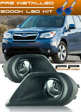 For 2014 2015 Subaru Forester LED Clear Fog Lights Wiring Switch Complete Kit