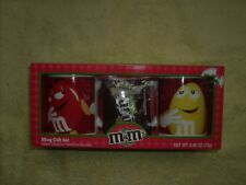 M & M 2 mug set red with red and yellow MM`s