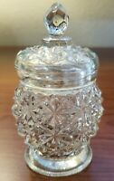 """Vintage AVON Bottle With Topper Clear Crystal Glass 5"""" x 3"""""""