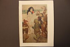 """Jesse Wilcox Smith, """" Snow White And The Seven Dwarves """", Color Lith 1923"""