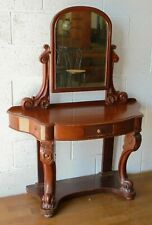 More details for antique mahogany small duchess princess dressing table with mirror