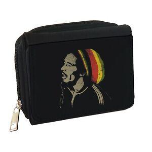 Bob Marley Mens Personalised Black Denim Wallet